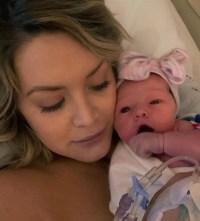 Jenna Cooper and baby girl Presley Belle Hudson
