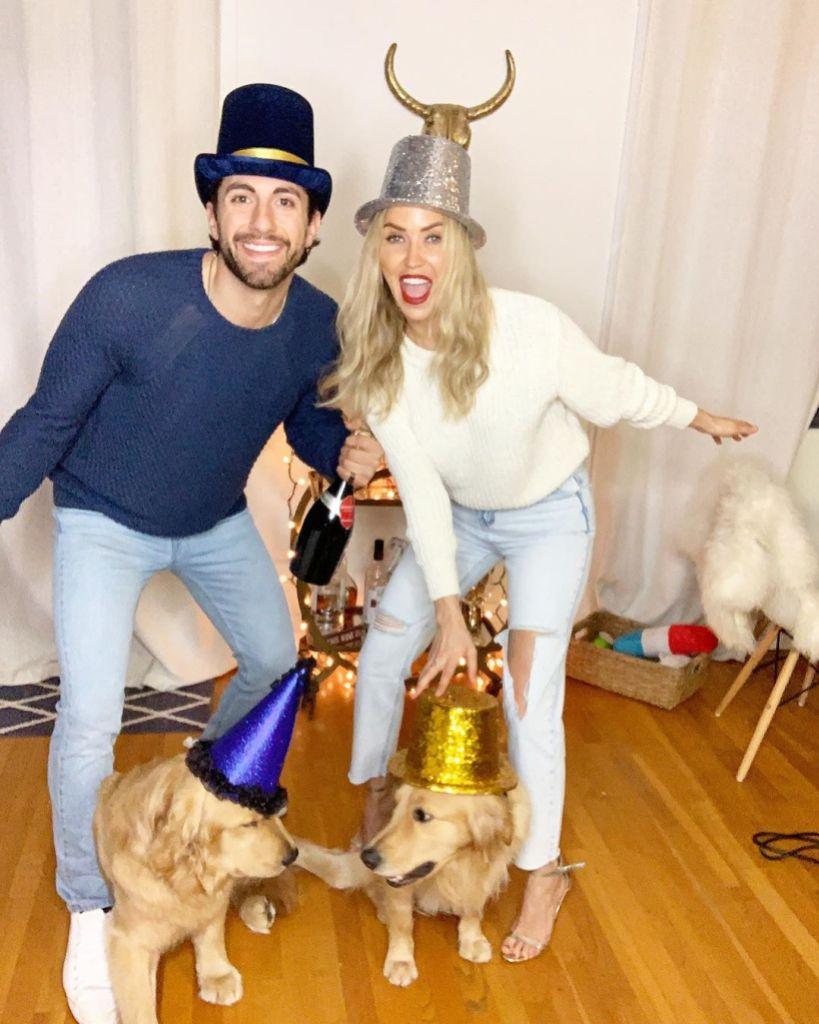 Kaitlyn Bristowe and Boyfriend Jason Tartick With Golden Retriever Dogs