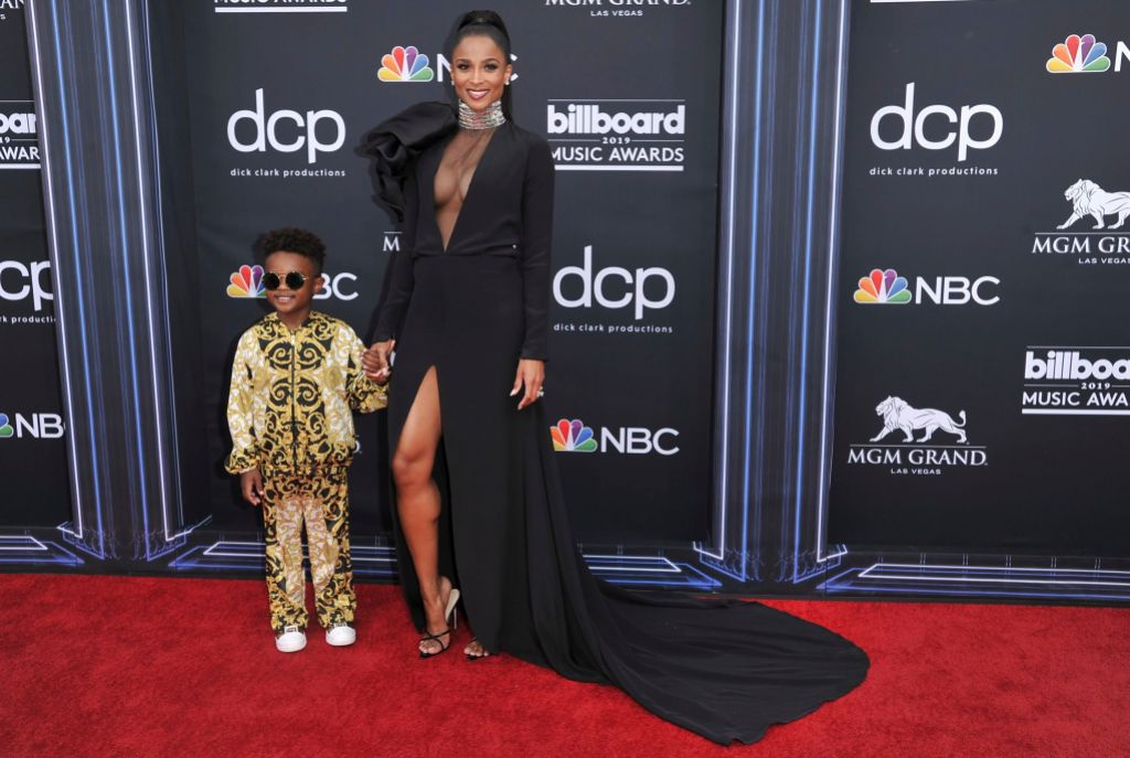 Ciara Wears Black Gown and Holds Hands With Son Future Zahir Wilburn at Billboard Music Awards