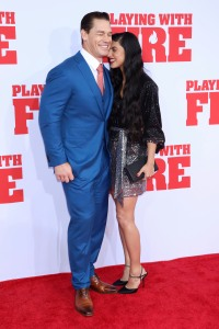 John Cena and Girlfriend Shay Shariatzadeh at Playing With Fire Premiere Red Carpet