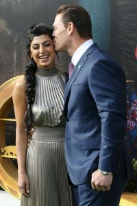 John Cena Kisses Girlfriend Shay Shariatzadeh at Dolittle Premiere