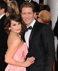 Glee Stars Lea Michele and Matthew Morrison Pose on Red Carpet Together