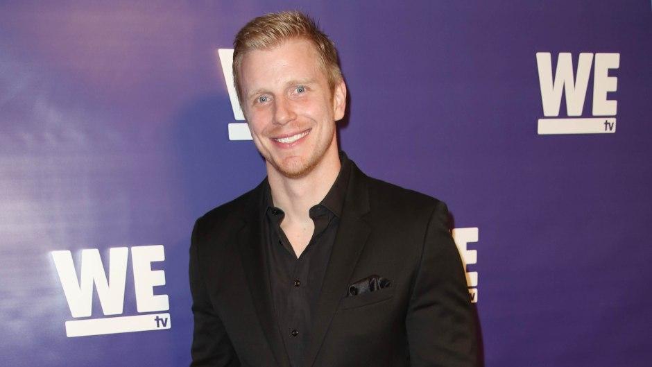 Bachelor Sean Lowe Smiles in Black Suit