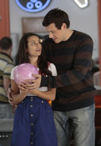 Lea Michele and Cory Monteith on Glee Together as Rachel and Finn