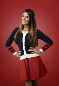 Lea Michele Glee Headshot on Glee as rachel Berry