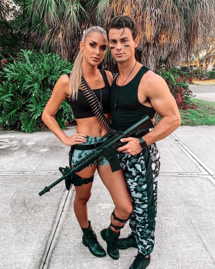 Kelsey Owens and Garrett Miller Dating Siesta Key Halloween Party