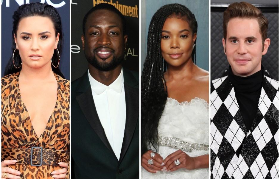 2020 GLAAD Award Moments Demi Lovato Dwayne Wade Gabrielle Union Ben Platt