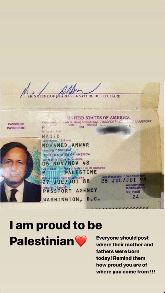 Bella Hadid Posts Dad's Passport Photo