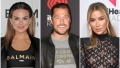 Bachelorette Hannah Brown in Balmain Bachelor Chris Soules in Leather Jacket and Bachelorette Kaitlyn Bristowe in Black Lace Dress