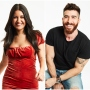 Bachelor Listen to Your Heart Rudi in Red Velvet Dress and Matt in Jeans and Tshirt