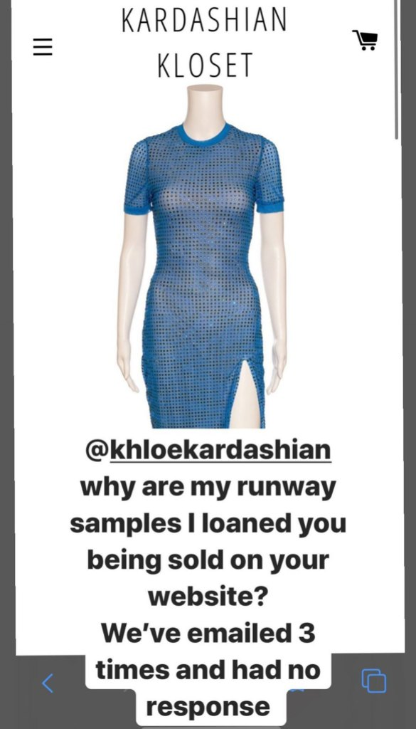 Khloe-Kardashian-Accused-Of-Selling-A-Dress-That-Was-Loaned-By-Designer