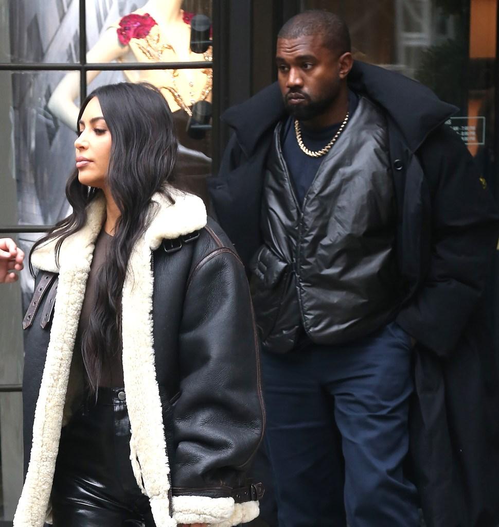 Kim Kardashian and Kanye West in November 2019