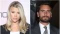 Sofia Richie in Black Suit and White Crop Top Scott Disick wears Suit