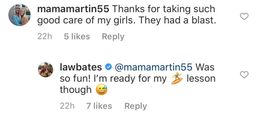 The Bachelor Alum Heather Martin's Mom Thanks Bringing Up Bates Star Lawson Bates For Taking Care of Her Girls