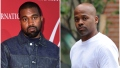 Kanye West in denim OUtfit and Damon Dash in White Tshirt