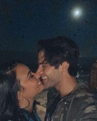 Demi Lovato Laughs While Kissing Boyfriend Max Ehrich
