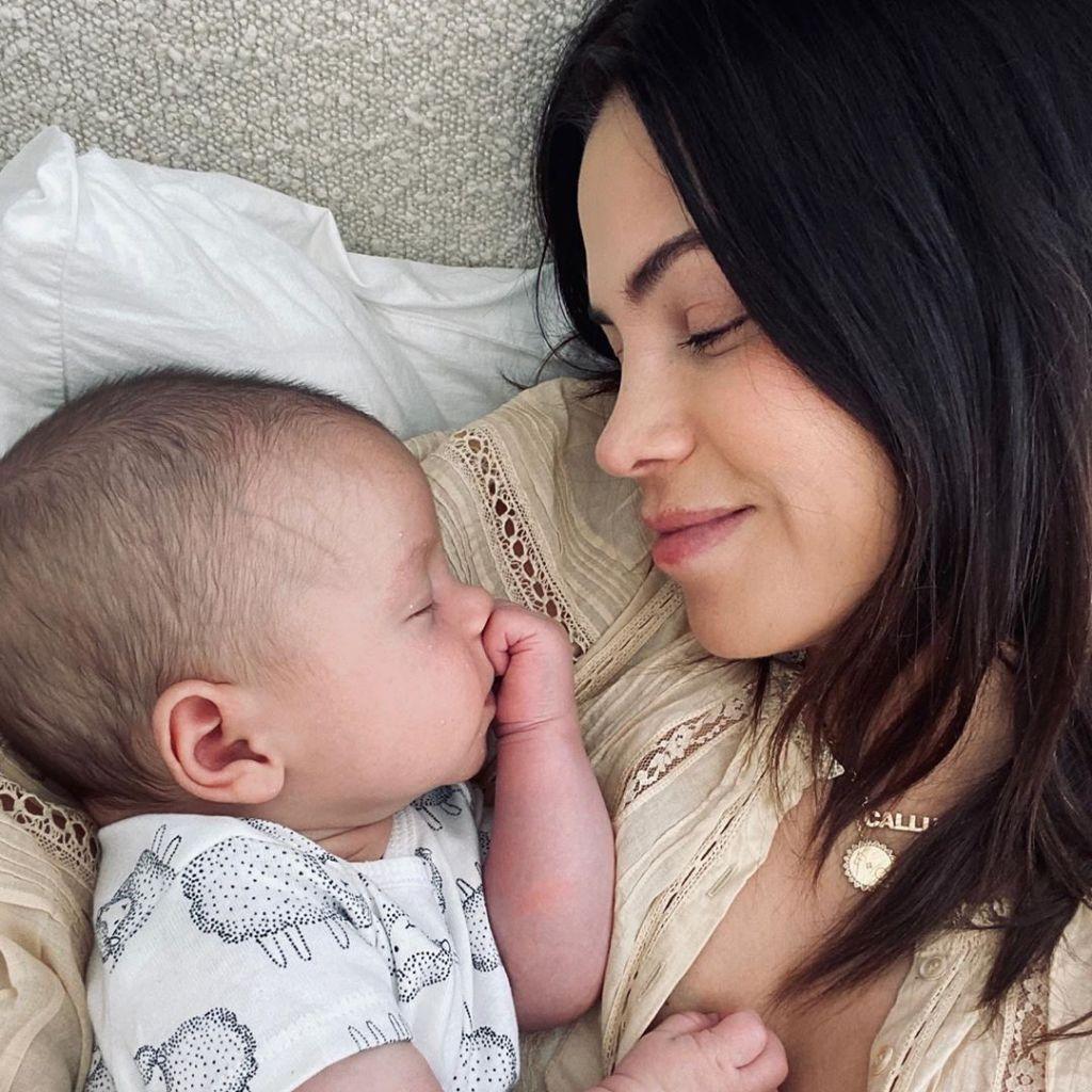 Jenna Dewan Cuddling Baby Callum