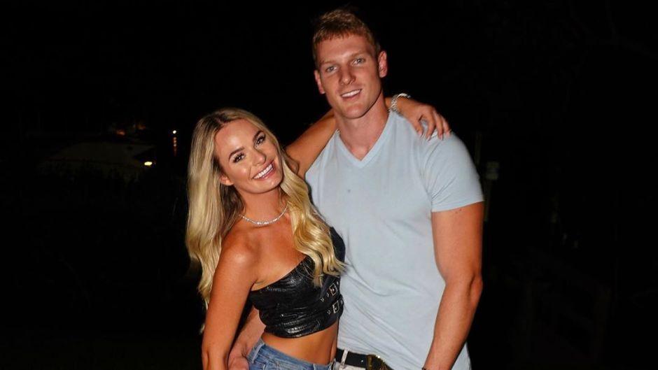 Juliette Porter and Sam Logan Smile Together