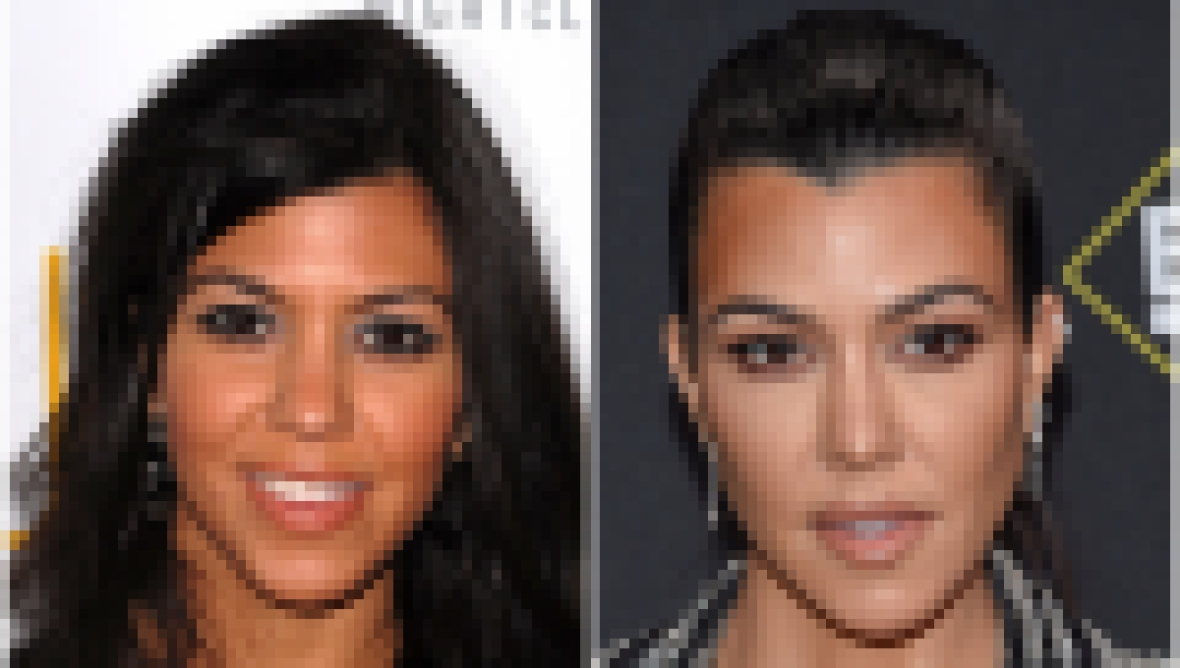 kourtney kardashian transformation