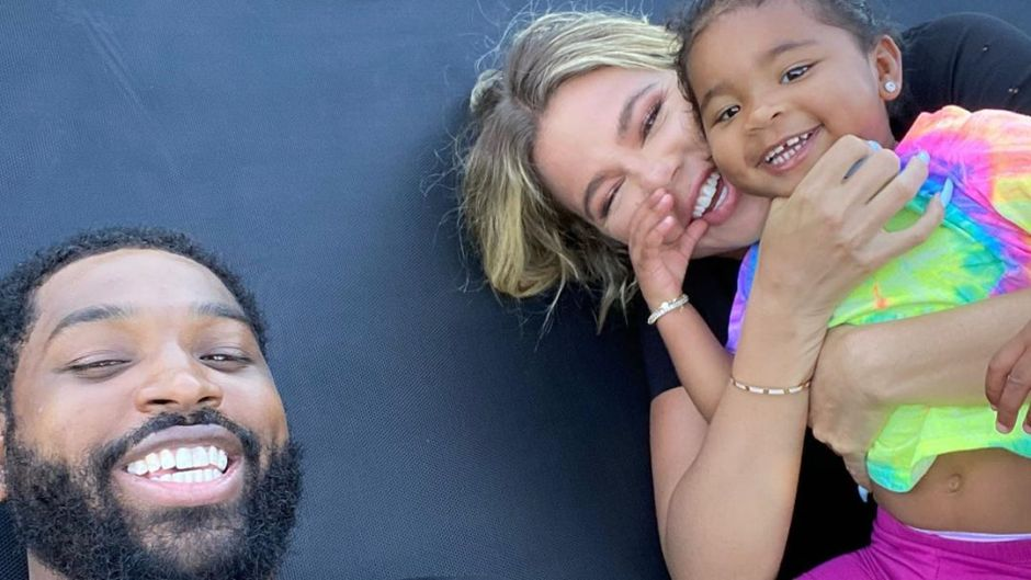 Tristan Thompson Daughter True Khloe Kardashian Trampoline