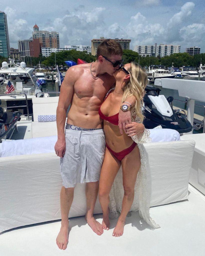 Siesta Key's Juliette Porter and Boyfriend Sam Logan Kiss on a Boat