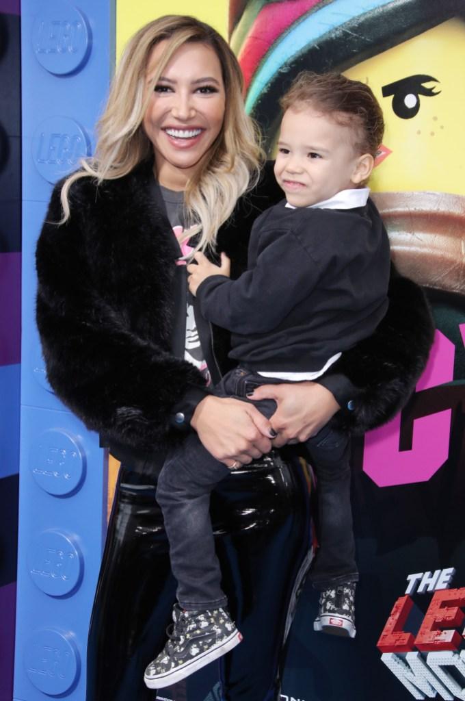 Naya Rivera Smiles with Son Josey at Lego Movie Premiere