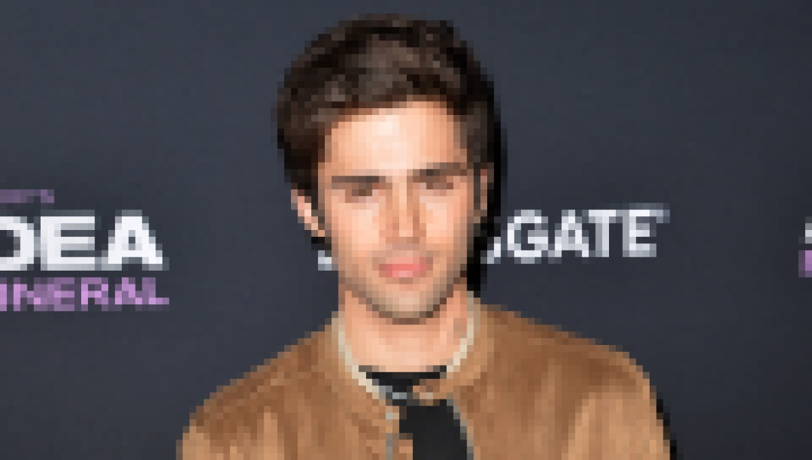 Demi Lovato's Fiance max Ehrich Wears Tan Coat and Black Tshirt