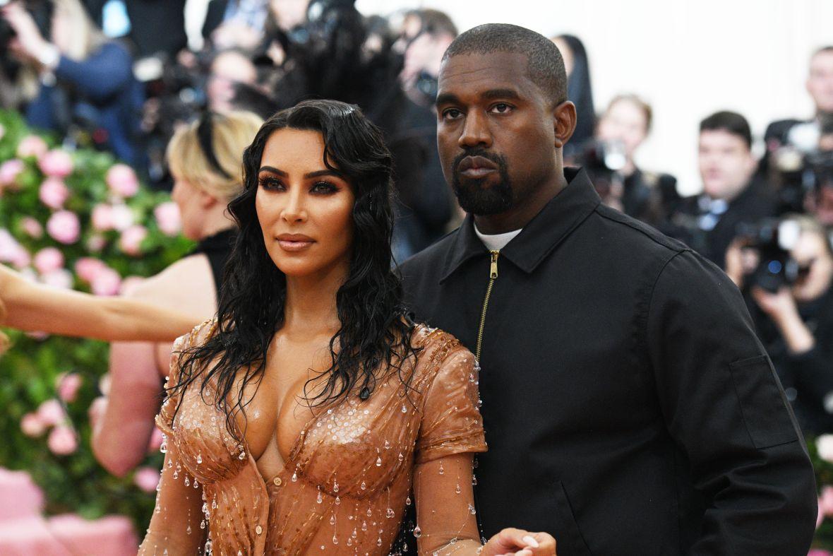 Kim Kardashian and Kanye West at the Met Gala