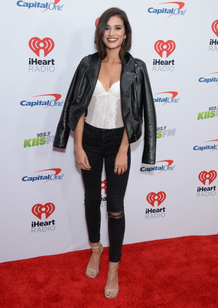 Bachelor in Paradise Star Taylor Nolan Wears Black Jeans Leather Jacket White Tank Opens Up About Pansexual Identity