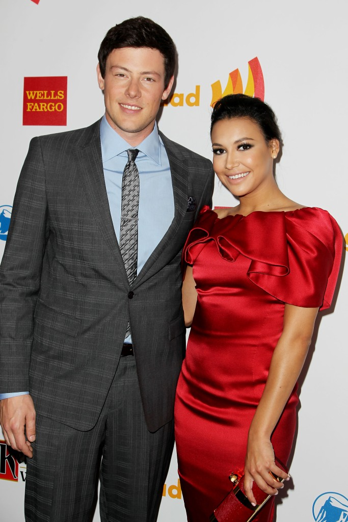 Glee Costars Cory Monteith and Naya Rivera