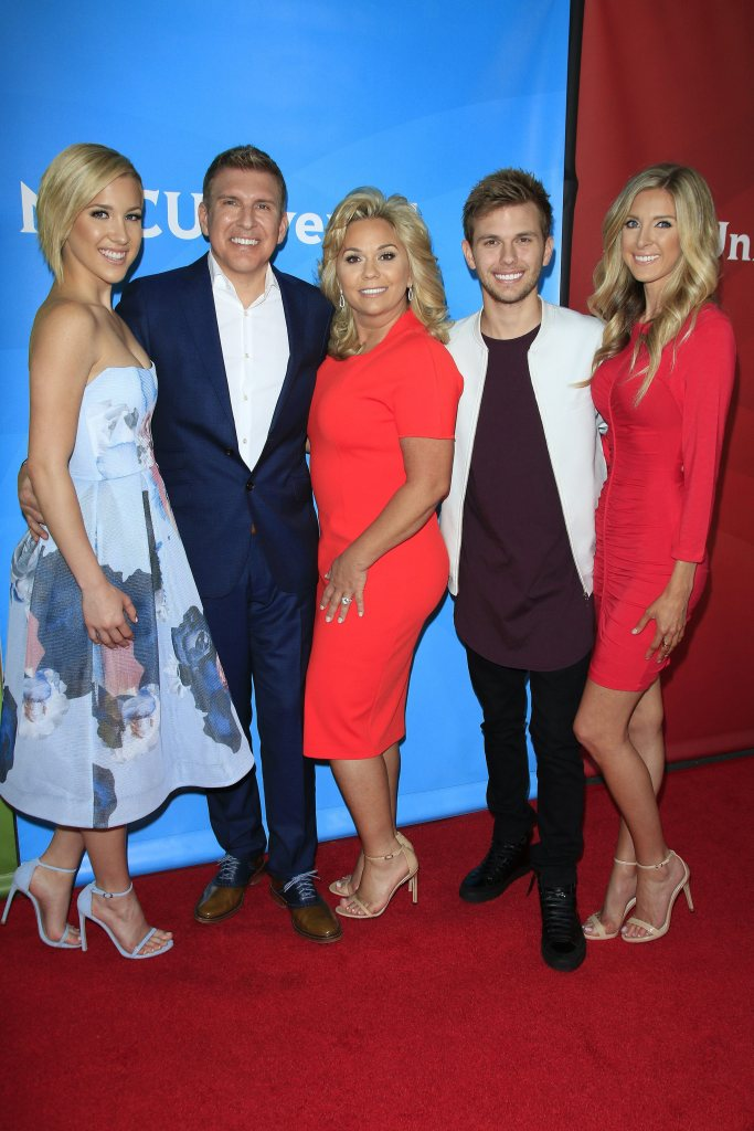 Todd Chrisley With Second Wife Julie Daughters Lindsie and Savannah Son Chase