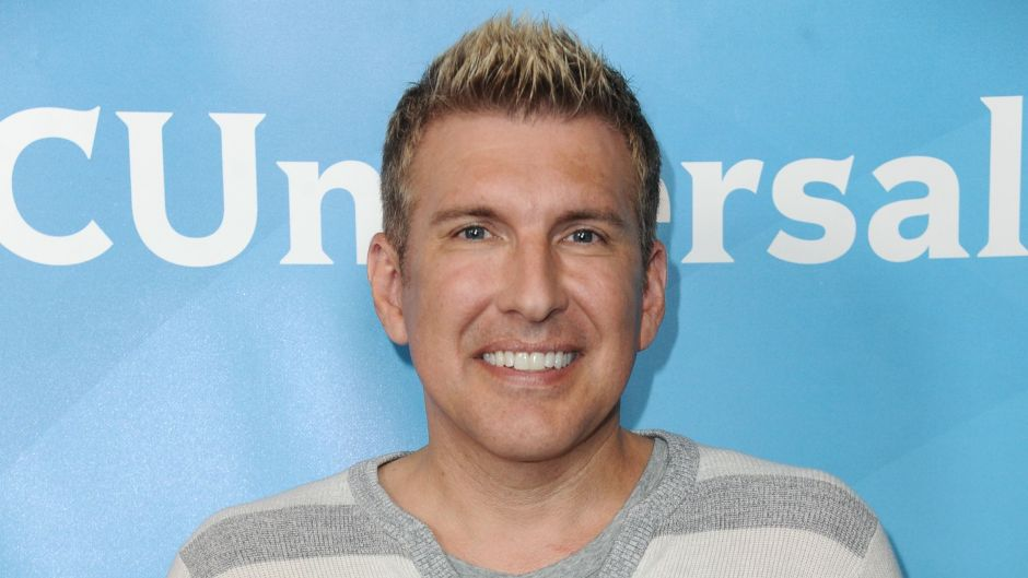 Todd Chrisley Wears Pink Pants and Grey Striped Sweater Who Is His Ex Wife Teresa Terry