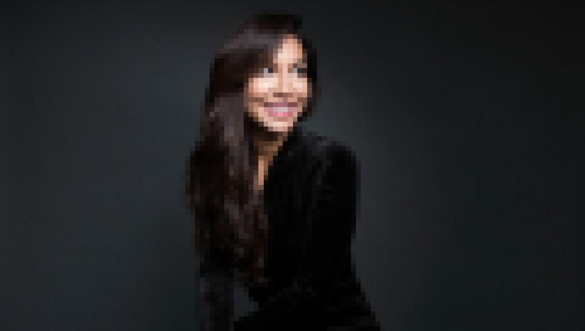 Naya Rivera Smiles in Black Angelic Photo