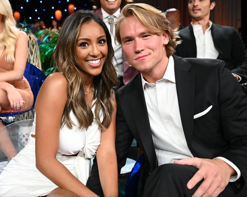 Tayshia Adams' Ex John Paul Jones Reacts to Her as Bachelorette Sitting Together During Bachelor in Paradise Aftershow Before Split