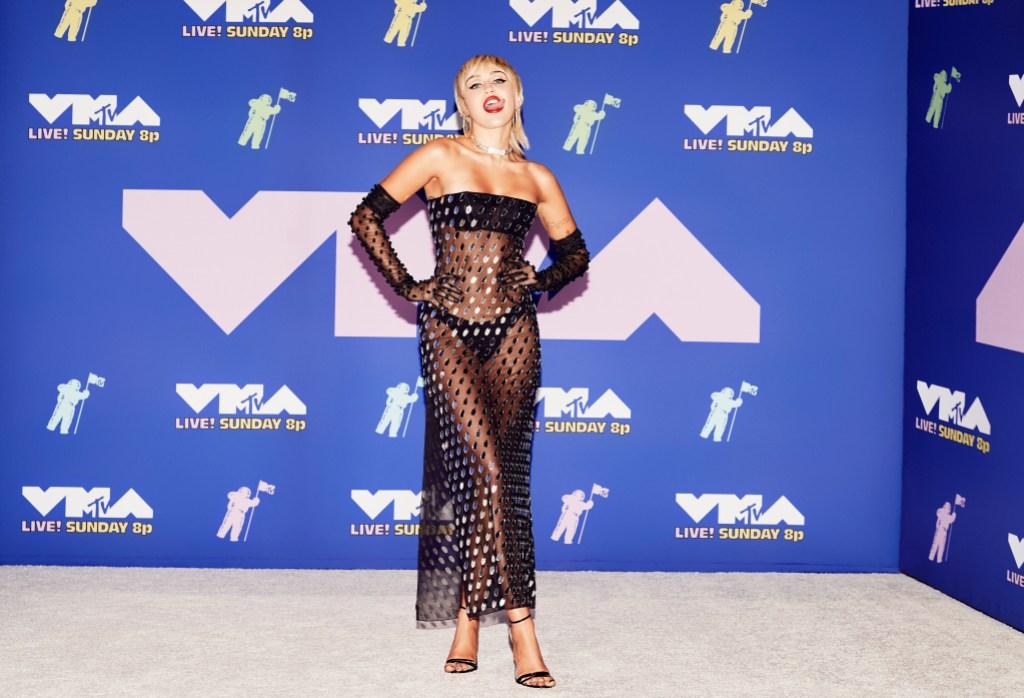 Miley Cyrus Mtv Vmas Dress 2020 Photos Of Singer In Black Sheer Look