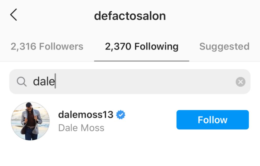 Clare Crawley's De Facto Salon Follows Dale Moss Amid Relationship Rumors