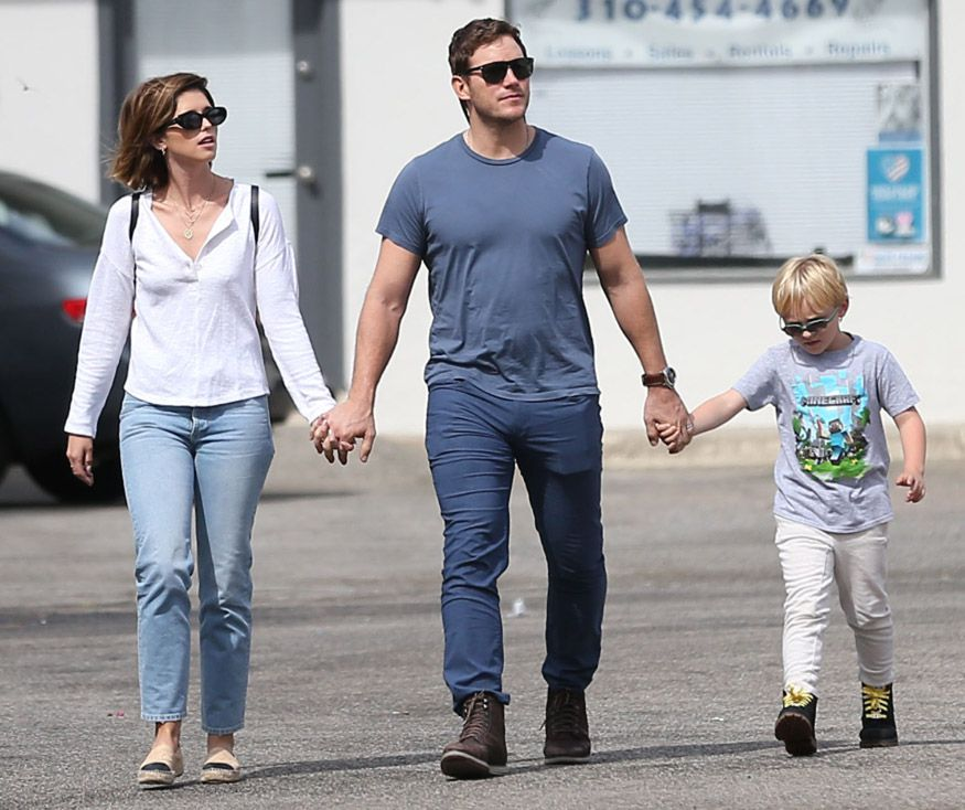 Katherine Schwarzenegger, Chris Pratt and Jack Pratt