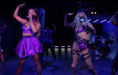 Lady Gaga and Ariana Grande VMAs Rain On Me Performance