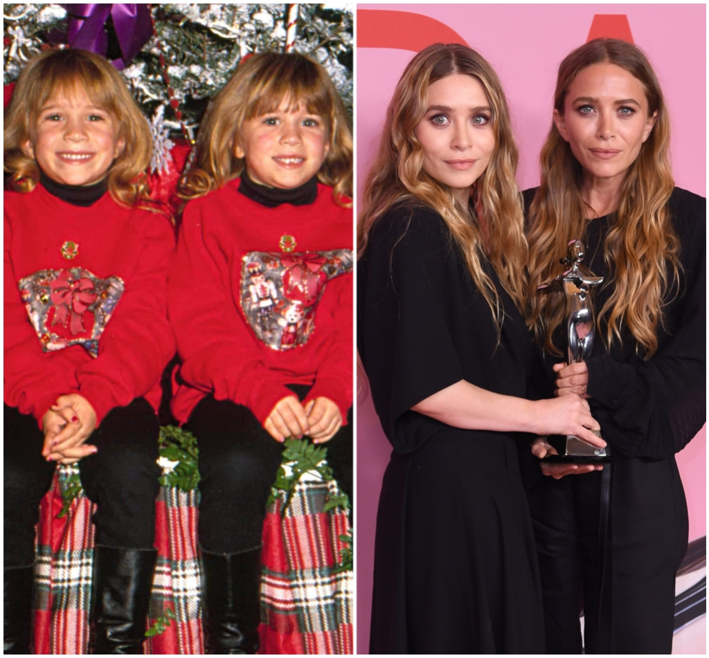 Mary Kate and Ashley Olsen Then and Now