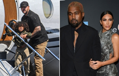 Saint West Spotted on Plane in Wyoming Amid Kim and Kanye Drama