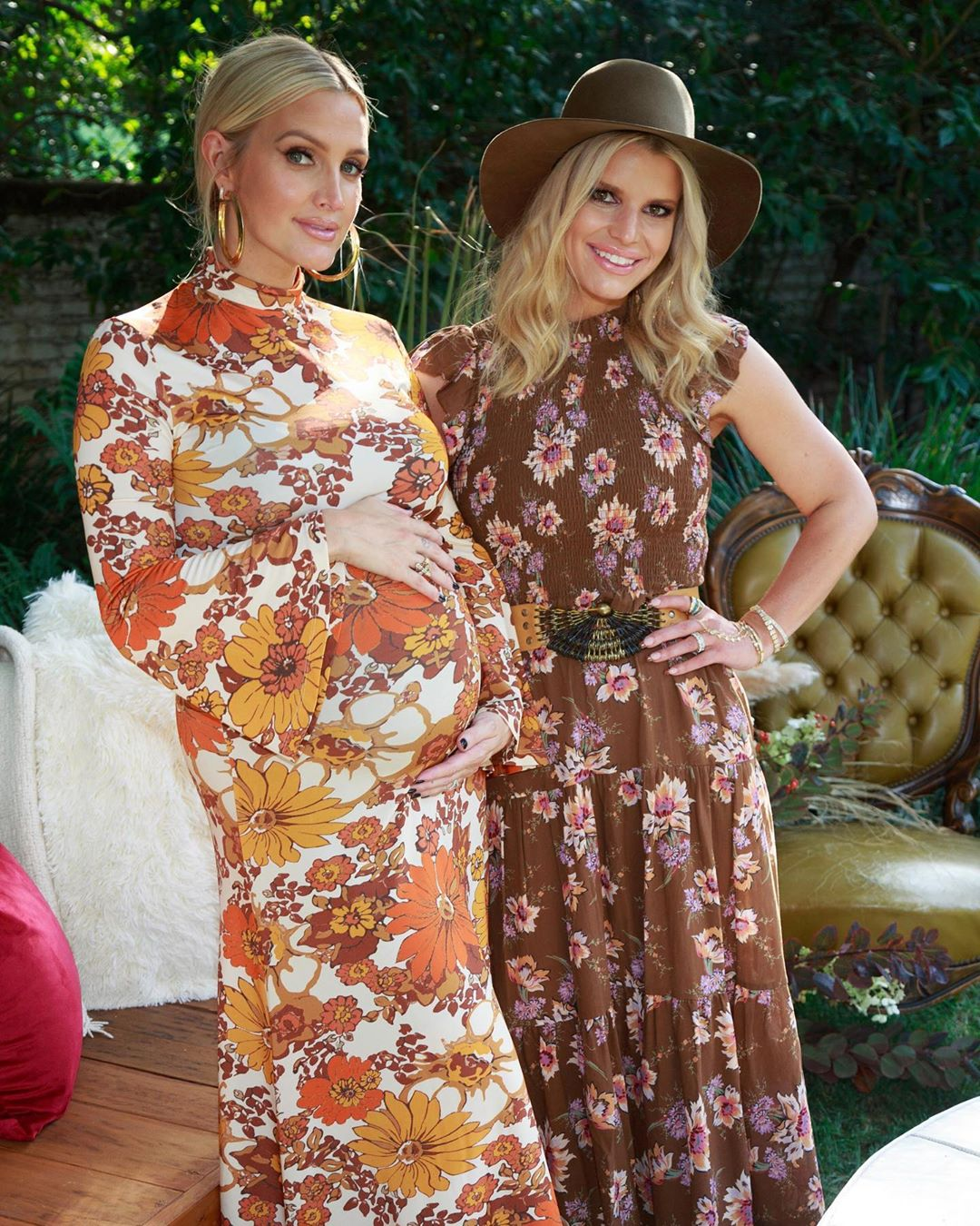 Ashlee Simpson Ross Baby Shower and Bump With Jessica Simpson
