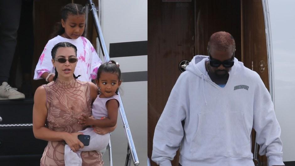 kim karadshian kanye west returns family vacation amid drama