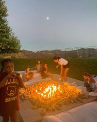 kourtney-kardashian-backyard-camping-sleepover-kim-kids