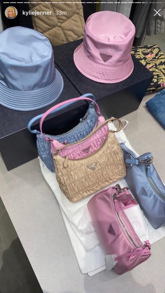 kylie-jenner-prada-bags-bucket-hats-ig