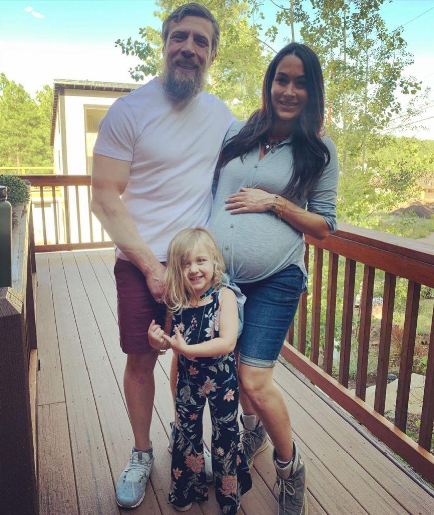 Brie Bella Daniel Bryan and Daughter Birdie Before Welcoming Son