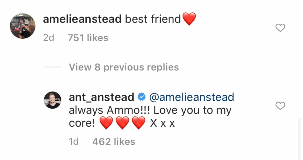 Ant Anstead daughter comment