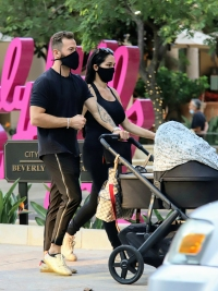 Artem Chigvintsev Snuggles Up to Son Matteo While Out to Dinner with Fiancee Nikki Bella