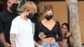 Justin Bieber Flaunts His New Neck Tattoo While Stepping Out to Lunch With Wife Hailey Baldwin in Beverly Hills