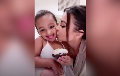 Kim Kardashian Snuggles Up With Saint, Chicago and Psalm While Munching On Cupcakes