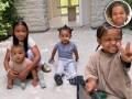 Kim Kardashian Kids and True Thompson Adorably Crash Her Workout